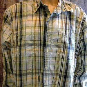 Tommy Hilfiger 80's Two-Ply Cotton Plaid Button